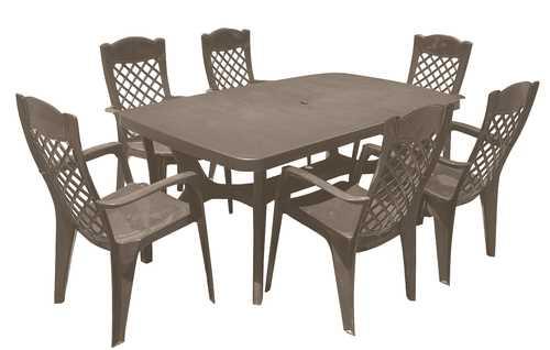 סט שולחן בולטימור ו-6 כסאות לירון Baltimore Liron Set קפוצ'ינו 245728