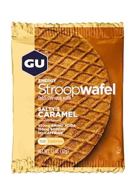 מארז 16 יחידות שטרופוואפל GU בטעם קרמל מלוח ללא גלוטן Stroopwafel Saltys Caramel