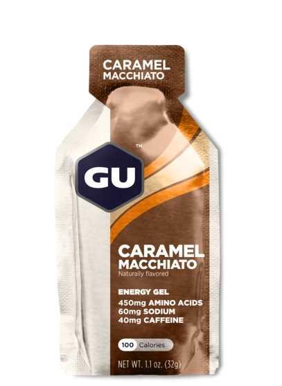 מארז 24 יחידות ג'ל האנרגיה הראשון בעולם GU בטעם קרמל ומקיאטו Caramel Macchiato