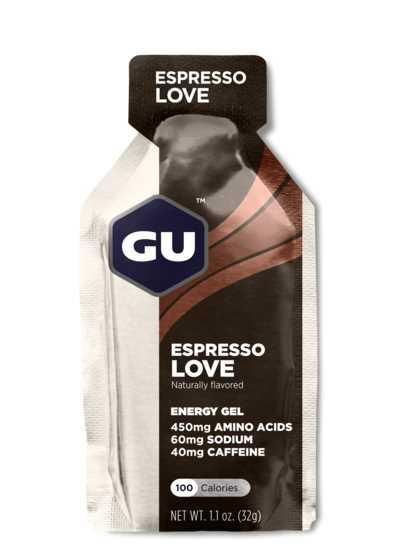 מארז 24 יחידות ג'ל האנרגיה הראשון בעולם GU בטעם אספרסו Caramel Espresso