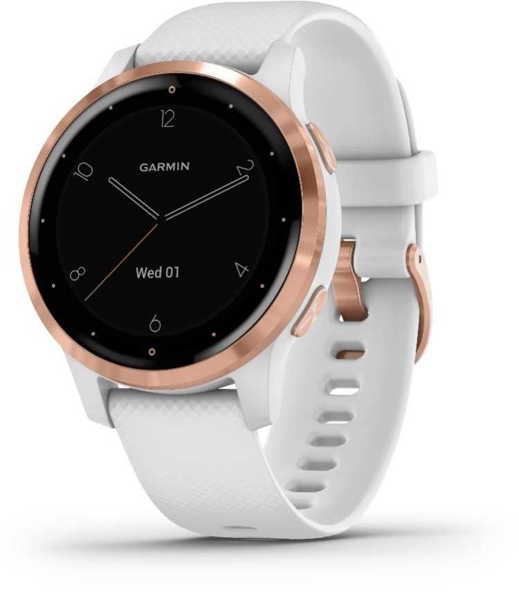 שעון ספורט חכם GARMIN דגם White/Rose Gold - vivoactive 4s