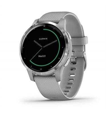 שעון ספורט חכם GARMIN דגם Powder Gray/Silver - vivoactive 4s