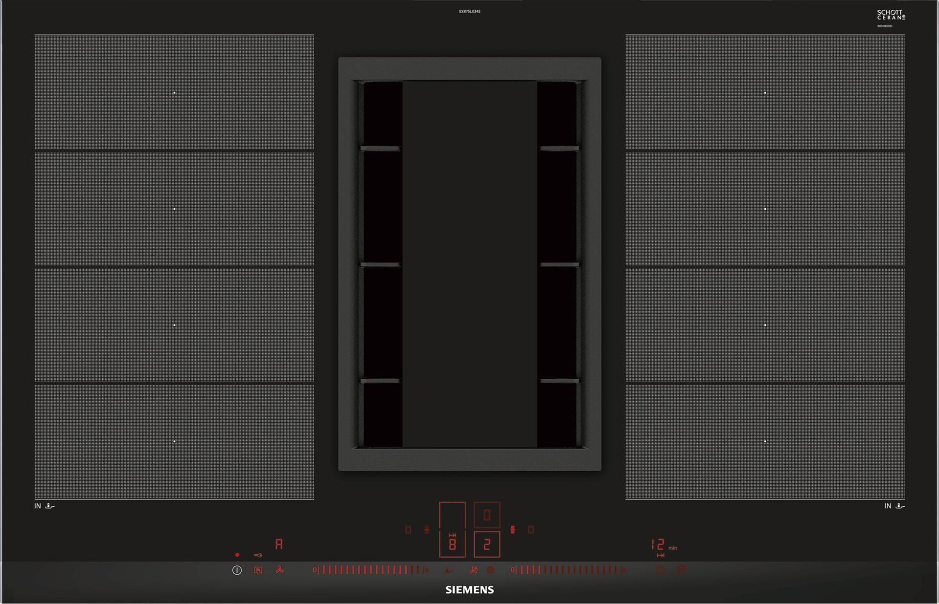 כיריים אינדוקציה משולב קולט מובנה Siemens EX875LX34E סימנס