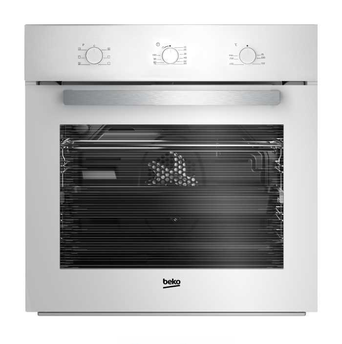 תנור בנוי תא גדול 65 ליטר Beko BIE22100W לבן בקו
