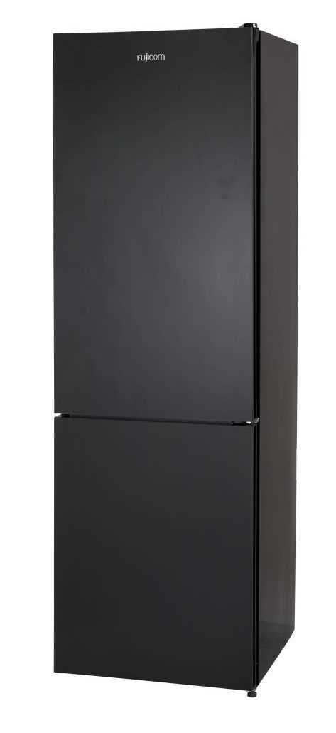 מקרר מקפיא תחתון 341 ליטר Fujicom FJ-NF380BK זכוכית שחורה פוג'יקום