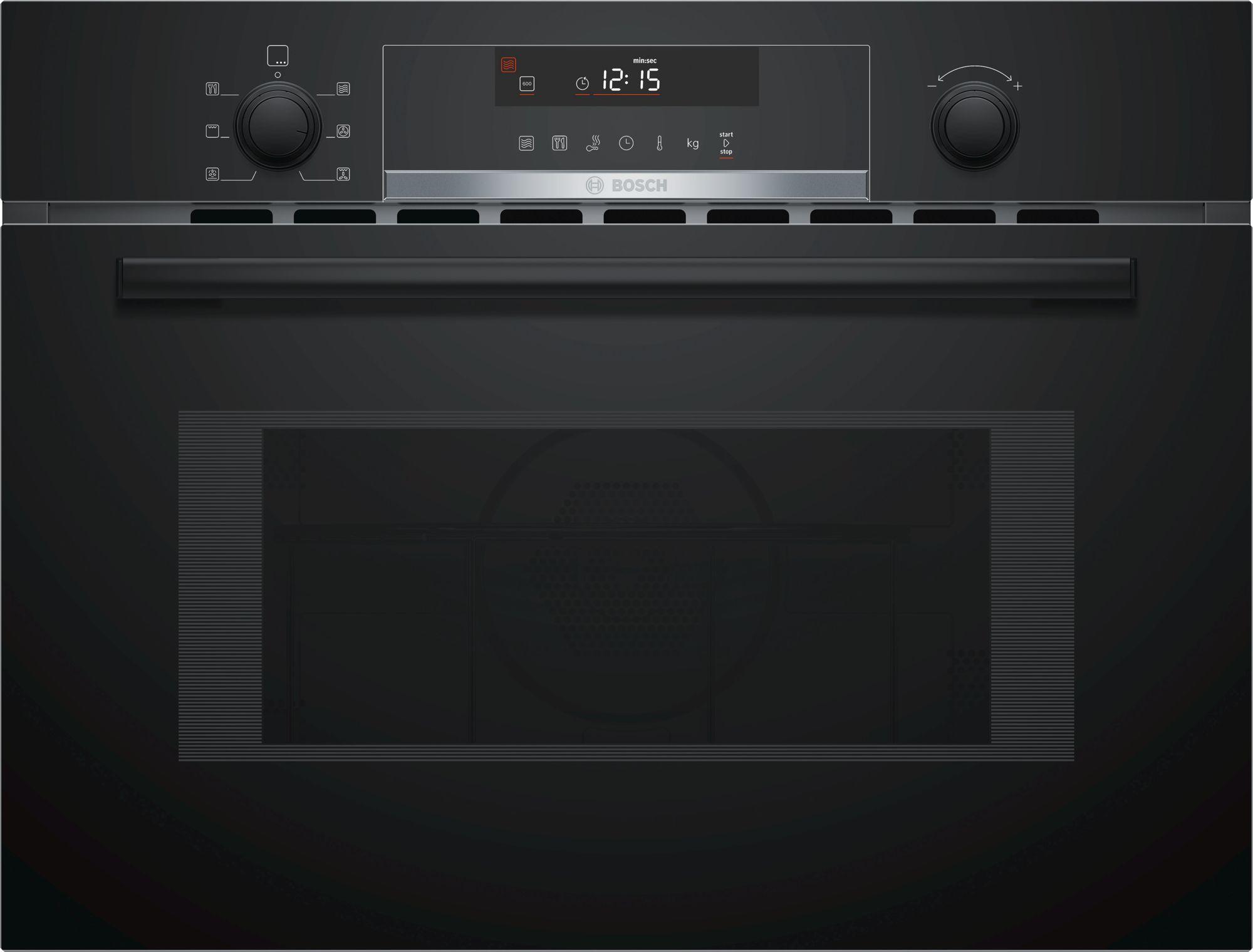 תנור בנוי 45 ליטר משולב מיקרוגל שחור Bosch CMA585MB0 בוש