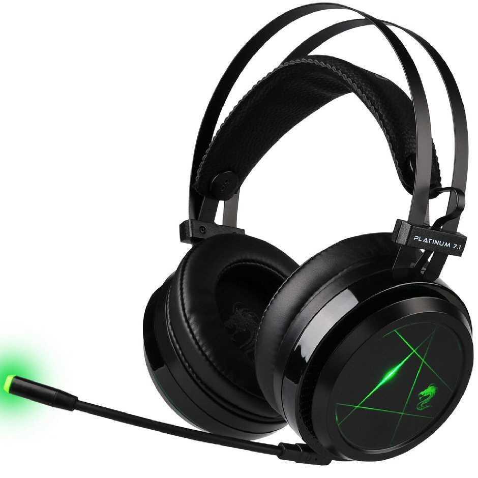 אוזניות גיימינג Platinum שחור דגם GPDRA-PLATBL