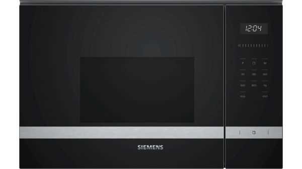 מיקרוגל בנוי 20 ליטר Siemens BF525LMS0 שחור סימנס
