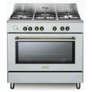 תנור משולב כיריים 5 להבות Delonghi NDS952W דה לונגי