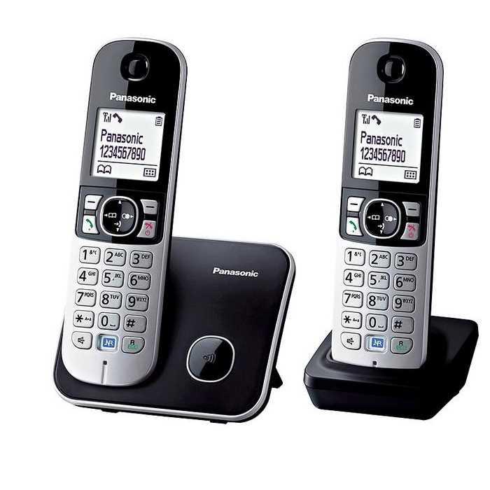 טלפון אלחוטי + שלוחה Panasonic KX-TG6812MBB פנסוניק