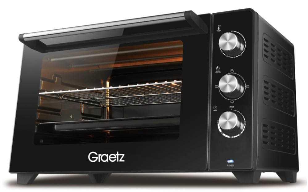 טוסטר אובן 55 ליטר שחור Greatz OT-5568 גרץ