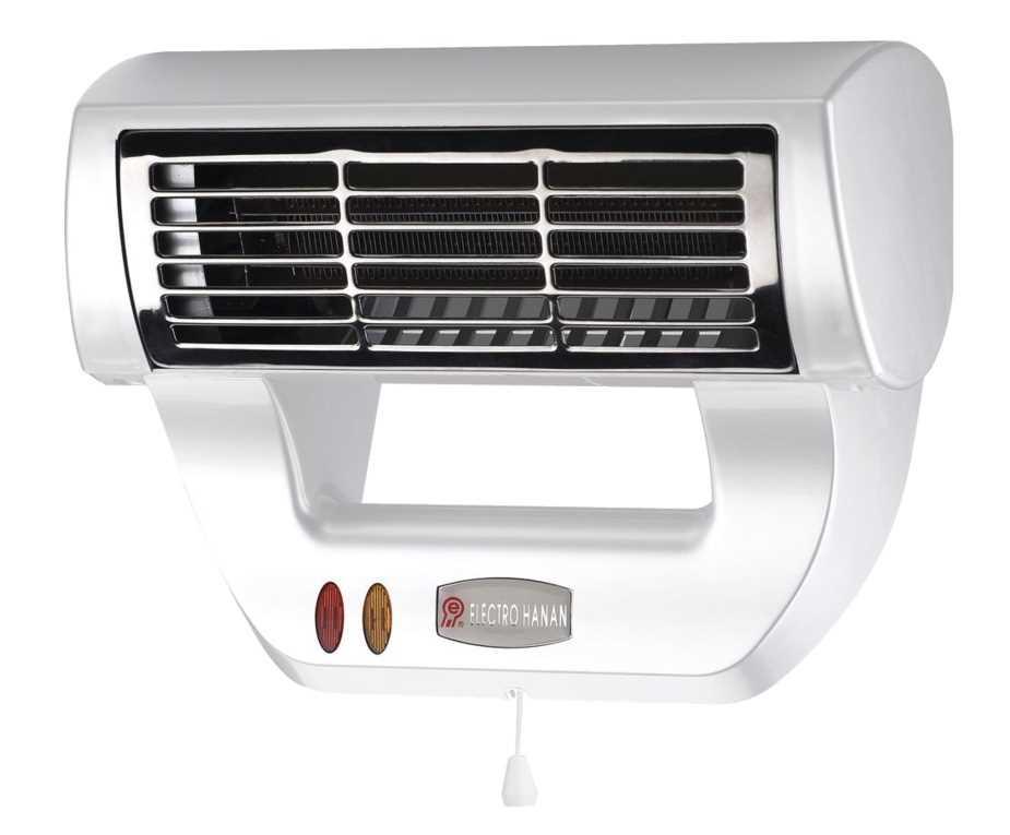 מפזר חום לאמבטיה 2600W טורבו לבן דגם el-21W מבית אלקטרו חנן