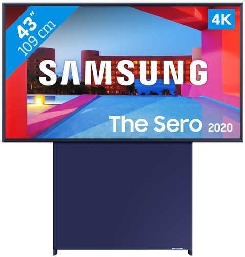"""טלוויזיה חכמה עם מסך מסתובב """"43 QLED 4K דגם SERO 43LS05T מבית SAMSUNG סמסונג"""