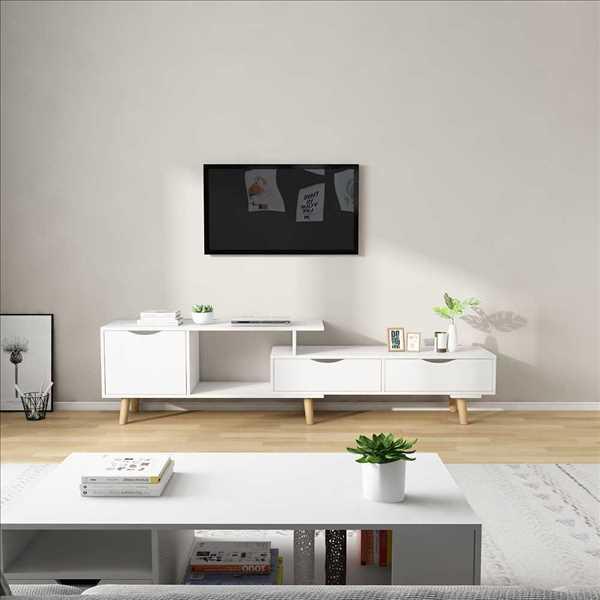 מזנון טלוויזיה דגם KINGSLEY צבע לבן
