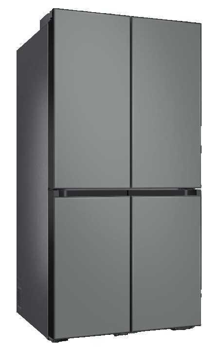 מקרר 4 דלתות 860 ליטר זכוכית אפורה Samsung RF90T9013GR סמסונג