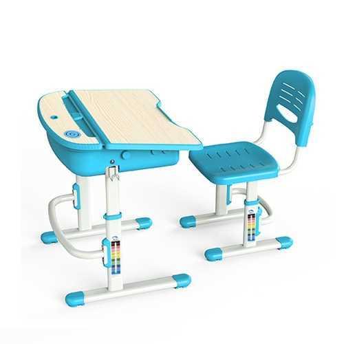 שולחן וכסא מתכווננים לילדים בגיל בית הספר צבע כחול BIG BOSS C360