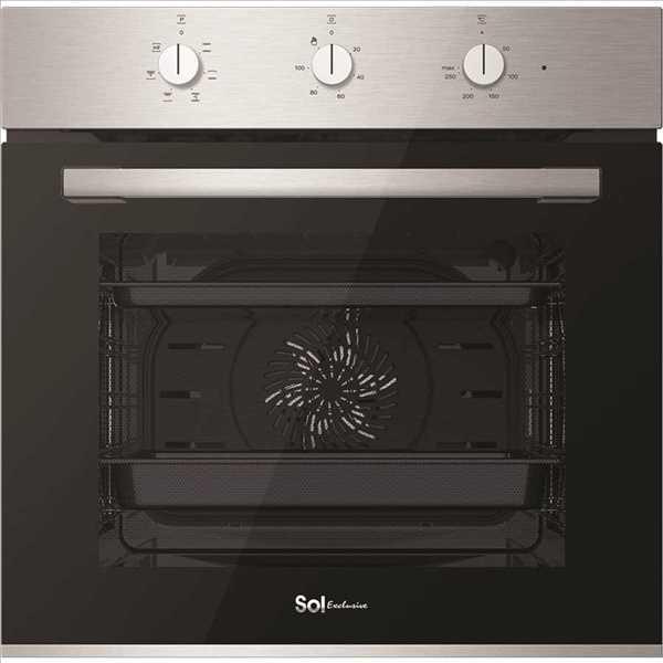 תנור בנוי מפואר 72 ליטר נירוסטה SOL HO605 סול