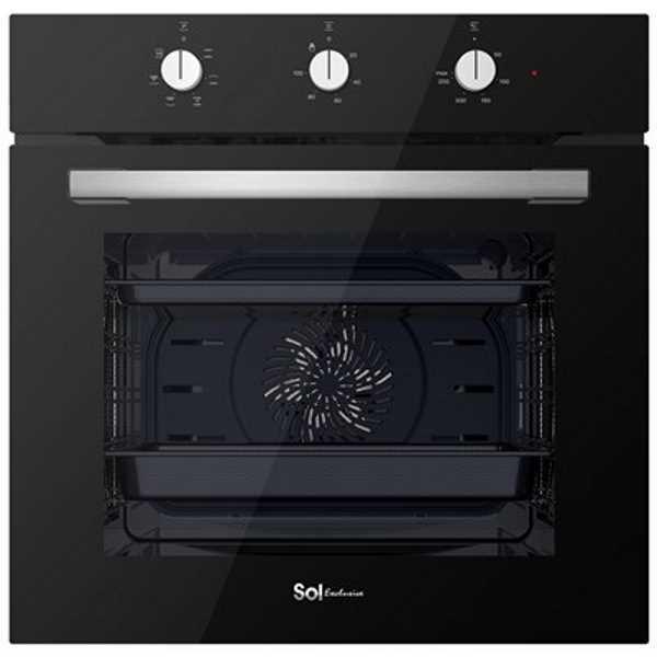 תנור בנוי מפואר 72 ליטר שחור SOL HO605B סול