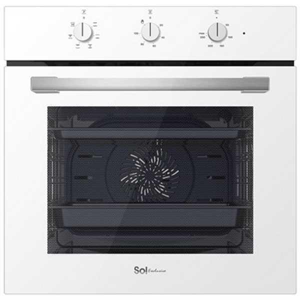 תנור בנוי מפואר 72 ליטר לבן SOL HO605W סול
