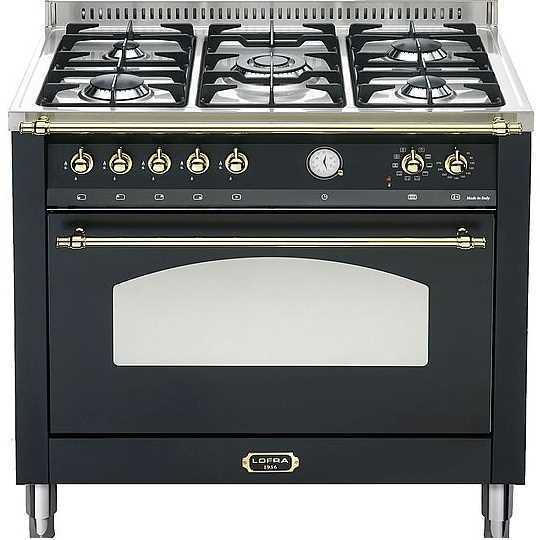 """תנור משולב שחור פחם 90 ס""""מ Lofra RNMG96MF לופרה"""