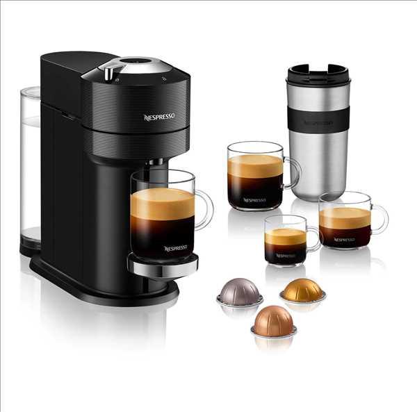 מכונת קפה NESPRESSO VertuoNext GCV1 שחור נספרסו