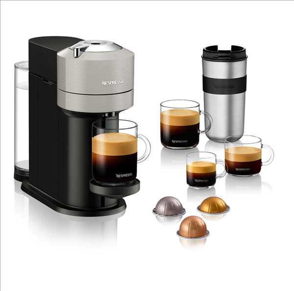 מכונת קפה NESPRESSO VertuoNext GCV1 אפור נספרסו