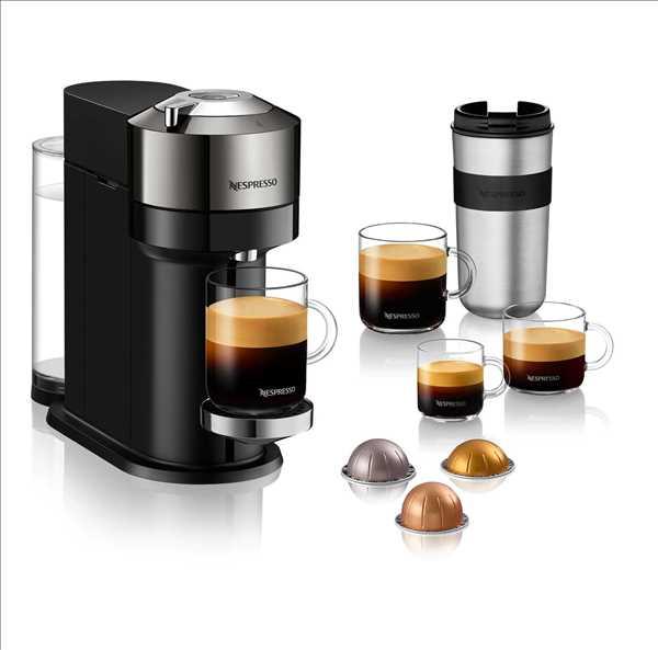 מכונת קפה NESPRESSO VertuoNext GCV1 כרום נספרסו