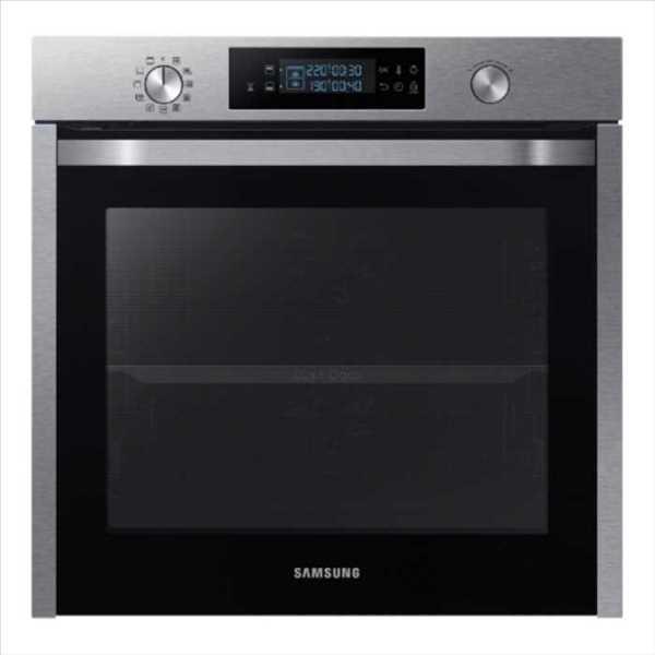 תנור בנוי פירוליטי 75 ליטר נירוסטה Samsung NV75K5571RS Dual Cooking סמסונג