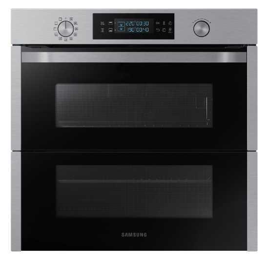 תנור בנוי פירוליטי 75 ליטר נירוסטה Samsung NV75N5671RS Dual Cook Flex סמסונג