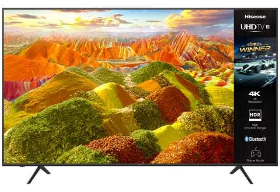 """טלוויזיה חכמה """"Hisense 4K Ultra HD 75A7120FIL 75 הייסנס"""