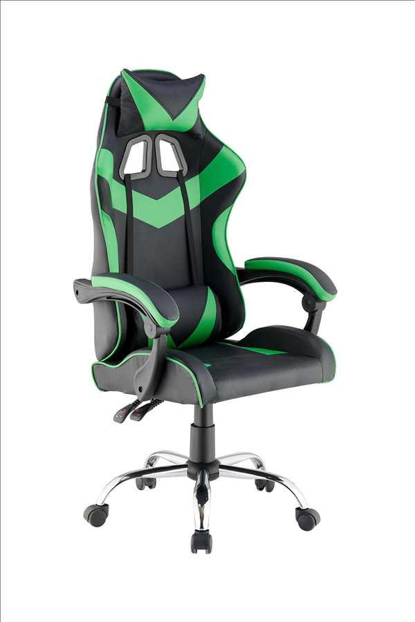 כסא גיימרים אורתופדי דגם PRO3 מבית NINJA EXTRIM שחור ירוק