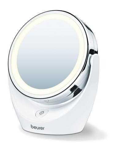 מראה קוסמטית שולחנית Beurer מגדילה פי 5 עם תאורת LED דגם BS49 בוריר