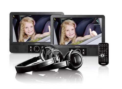 נגן DVD נייד כפול עם חיבור LENCO USB דגם MES-415 לנקו