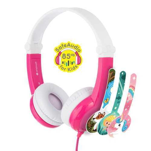אוזניות לילדים BuddyPhones דגם Connect BP-CO-PINK-01-K צבע ורוד