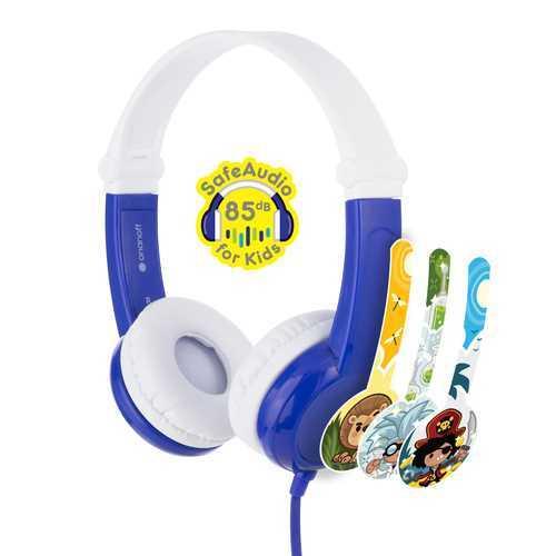 אוזניות לילדים BuddyPhones דגם Connect BP-CO-BLUE-01-K צבע כחול
