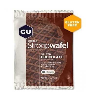 מארז 16 יחידות שטרופוואפל GU בטעם שוקולד מלוח ללא גלוטן Stroopwafel Salted Chocolate