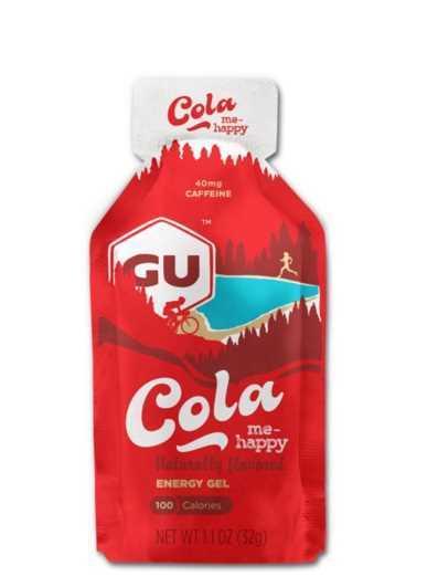 מארז 24 יחידות ג'ל האנרגיה הראשון בעולם GU בטעם קולה Cola Me Happy