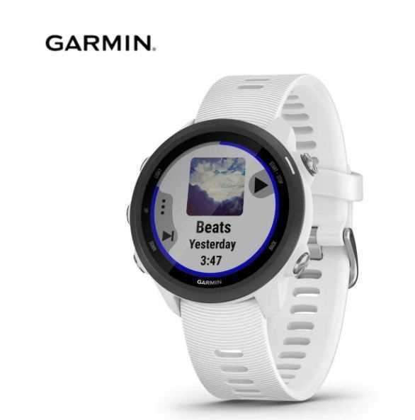 שעון ספורט חכם GARMIN דגם Forerunner 245 Music - שחור\לבן