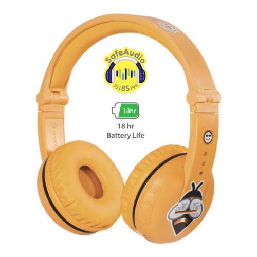 אוזניות אלחוטיות לילדים BuddyPhones PLAY Safari Yellow