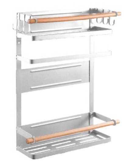 מתלה אחסון מגנטי למקרר EAZO Super Hanger F לבן