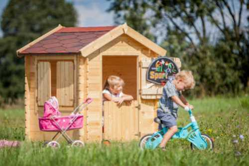 בית עץ לילדים Garden Top דגם M516 -מבית TIMBELA&KO