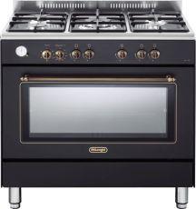 """תנור משולב מפואר 90 ס""""מ DELONGHI דגם NDS951 צבע שחור פחם"""