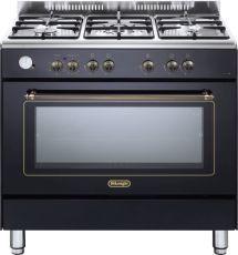"""תנור משולב מפואר 90 ס""""מ DELONGHI דגם NDS951 צבע שחור מבריק"""