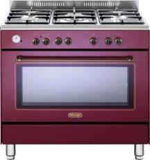 """תנור משולב מפואר 90 ס""""מ DELONGHI דגם NDS951 צבע אדום"""
