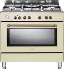 """תנור משולב מפואר 90 ס""""מ DELONGHI דגם NDS951 צבע וניל"""