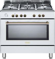 תנור משולב כיריים Delonghi NDS951 דה לונגי צבע לבן