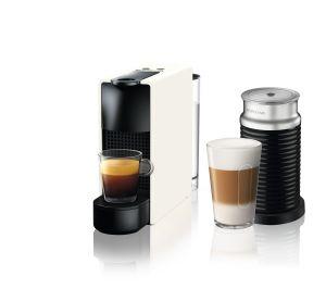 מכונת קפה Nespresso אסנזה מיני בצבע לבן דגם כולל מקציף חלב ארוצ'ינו