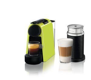 מכונת קפה Nespresso אסנזה מיני בצבע ירוק דגם D30 כולל מקציף חלב ארוצ'ינו