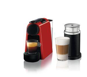 מכונת אספרסו Essenza Mini D30 כולל מקציף צבע אדום Nespresso נספרסו