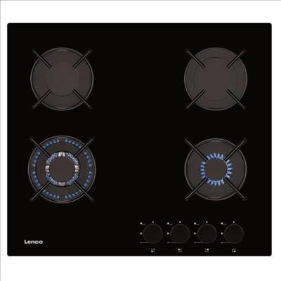 כיריים גז זכוכית שחורה Lenco לנקו LGH-6408BK